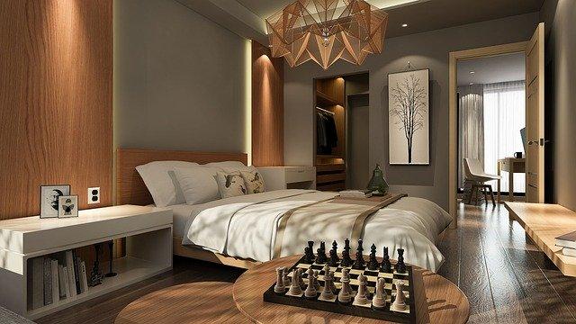 Prostorná ložnice